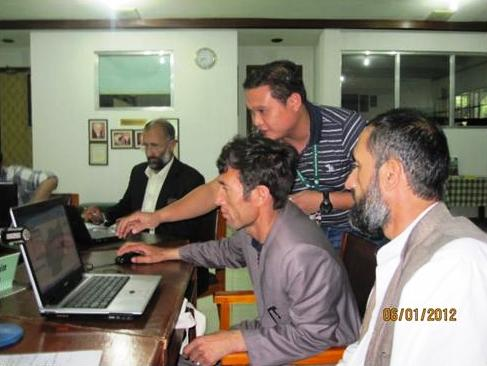 GIS session during the International Course on Community-based Integrated Watershed Management