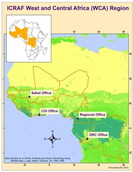 ICRAF WCA map